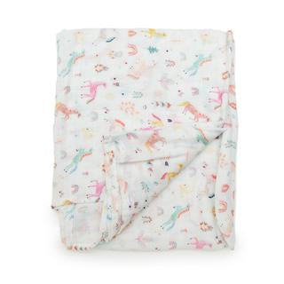 Loulou Lollipop Swaddle - Unicorn Dream