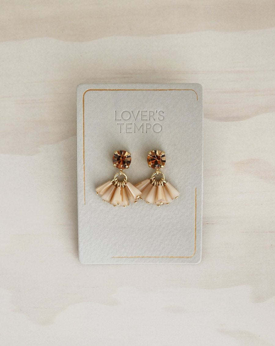Lovers Tempo - Earrings Crystal Confetti Peach Rose