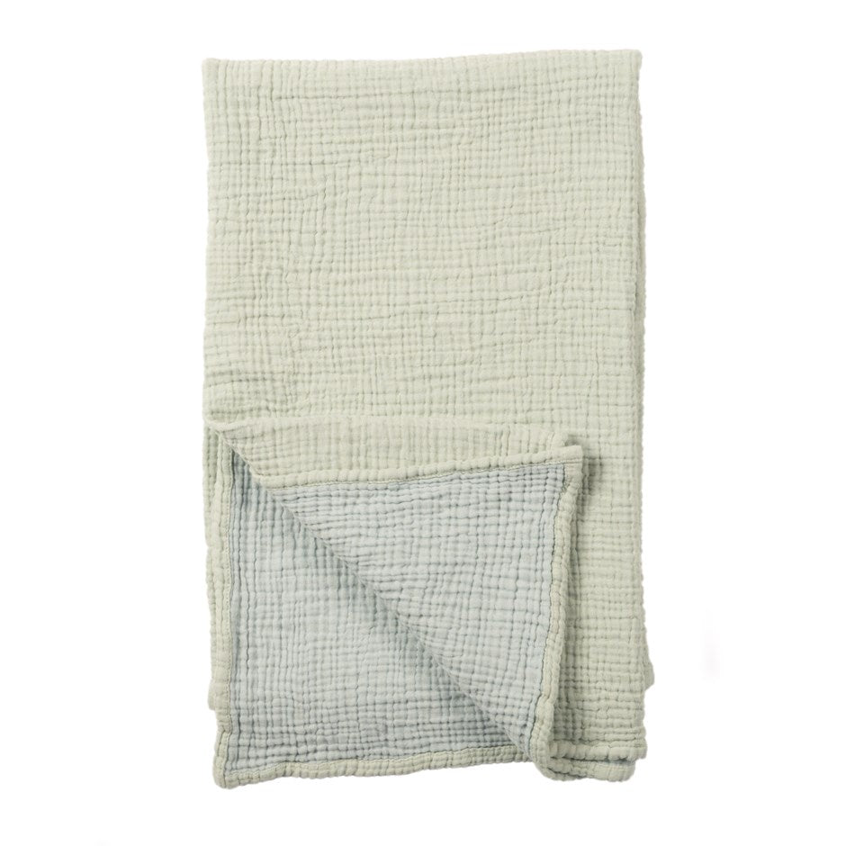 Baby Blanket - Crinkle Cotton Mint