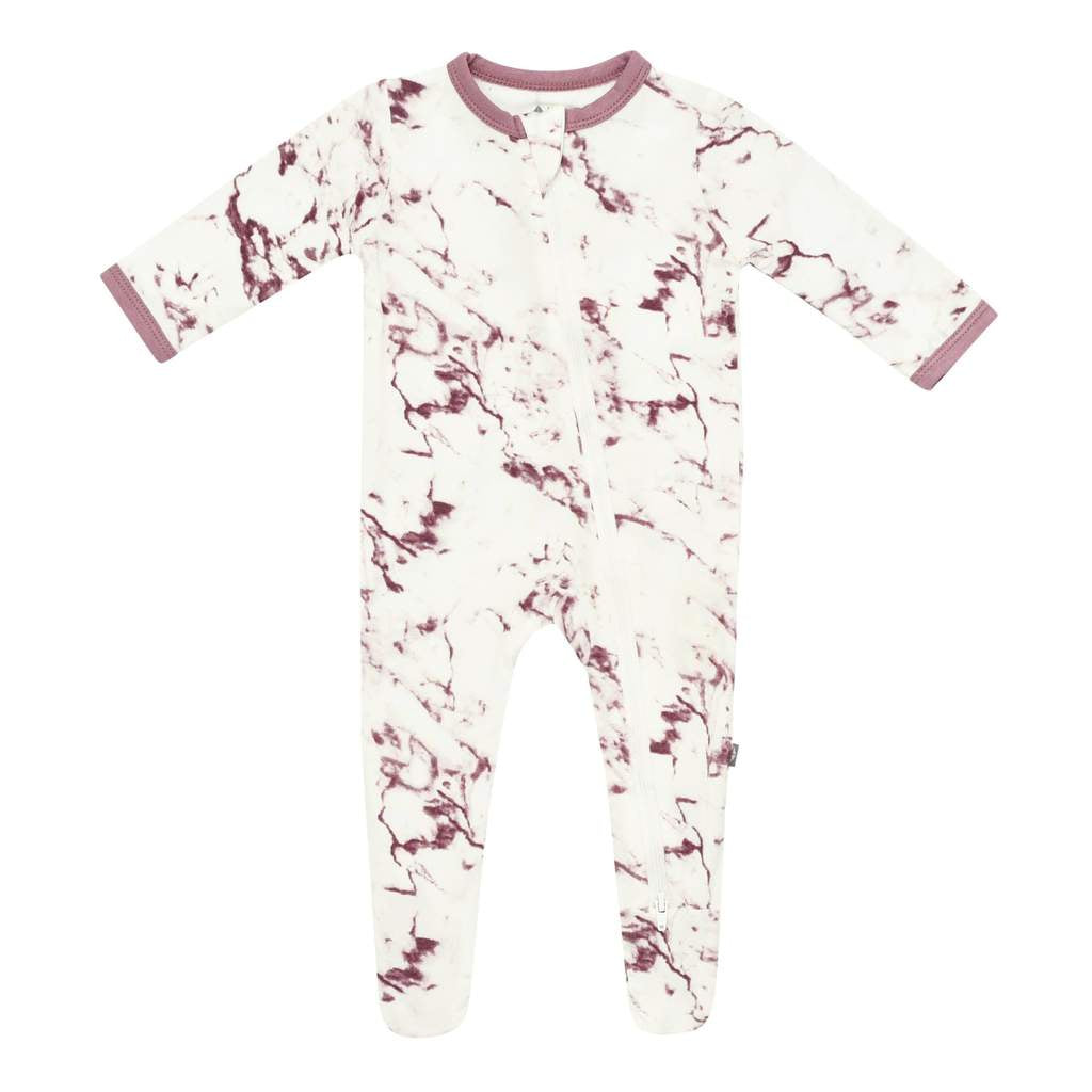 Kyte Baby Sleeper - Footie Mulberry Marble