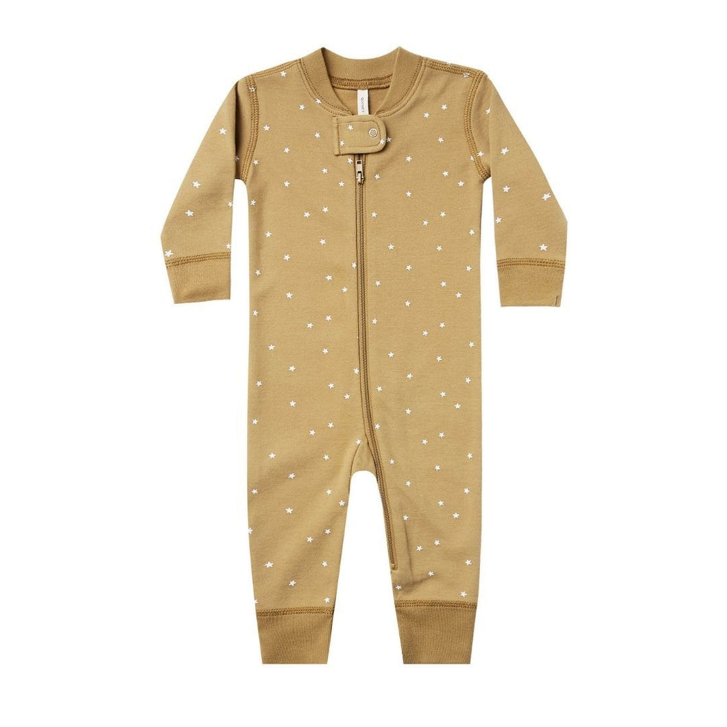 Quincy Mae Sleeper - Long Sleeve Zipper Gold