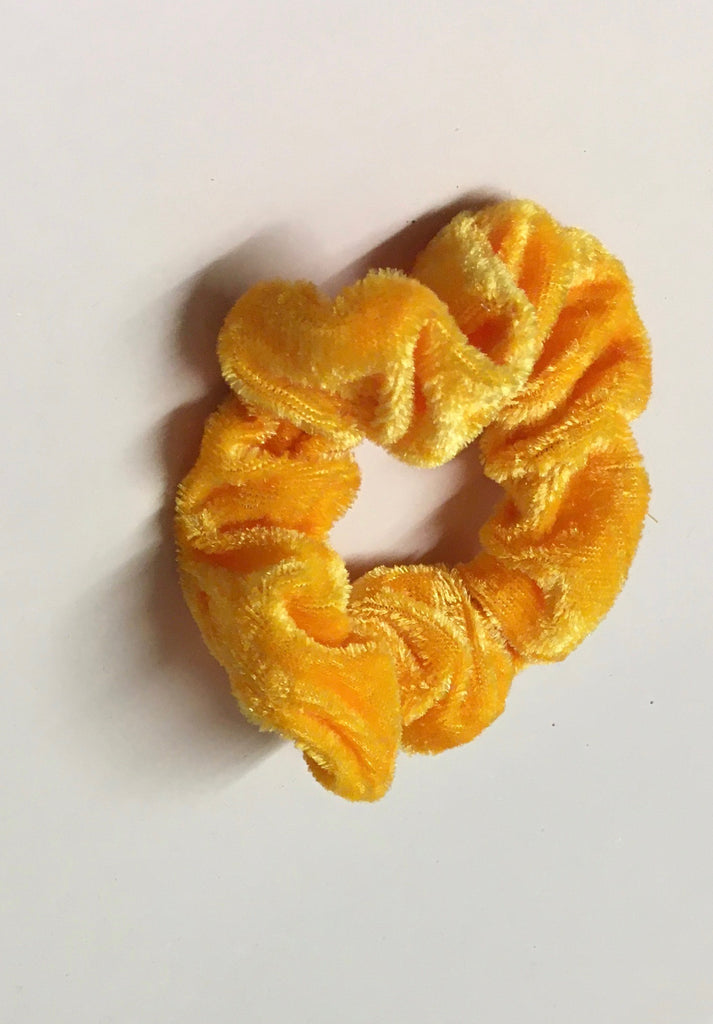 Canary Velvet Scrunchie
