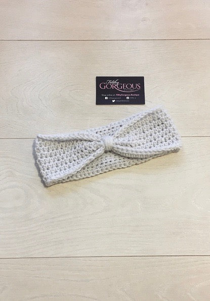 Handmade Grey Crochet Knot Headband