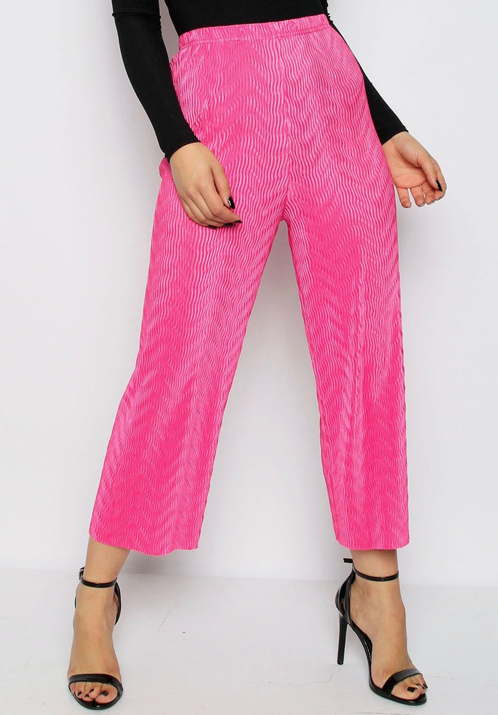 Hot Pink Pleated Culottes