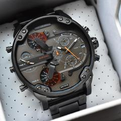 big daddy gunmetal bracelet men's watch