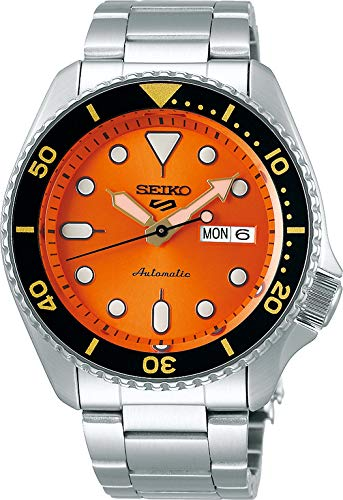 Seiko Analog Orange Dial Men's Watch