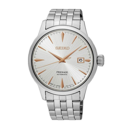 Seiko Analog White Dial Men's Watch