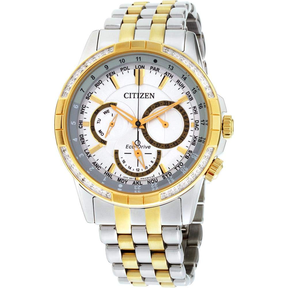 Citizen Bu2084-51A Calendrier Men's Watch Two-Tone Stainless Steel