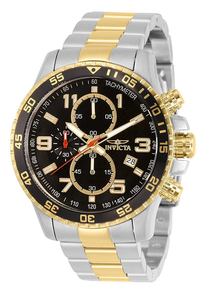 Invicta Specialty Men's Wrist Watch Stainless Steel Quartz Black Dial
