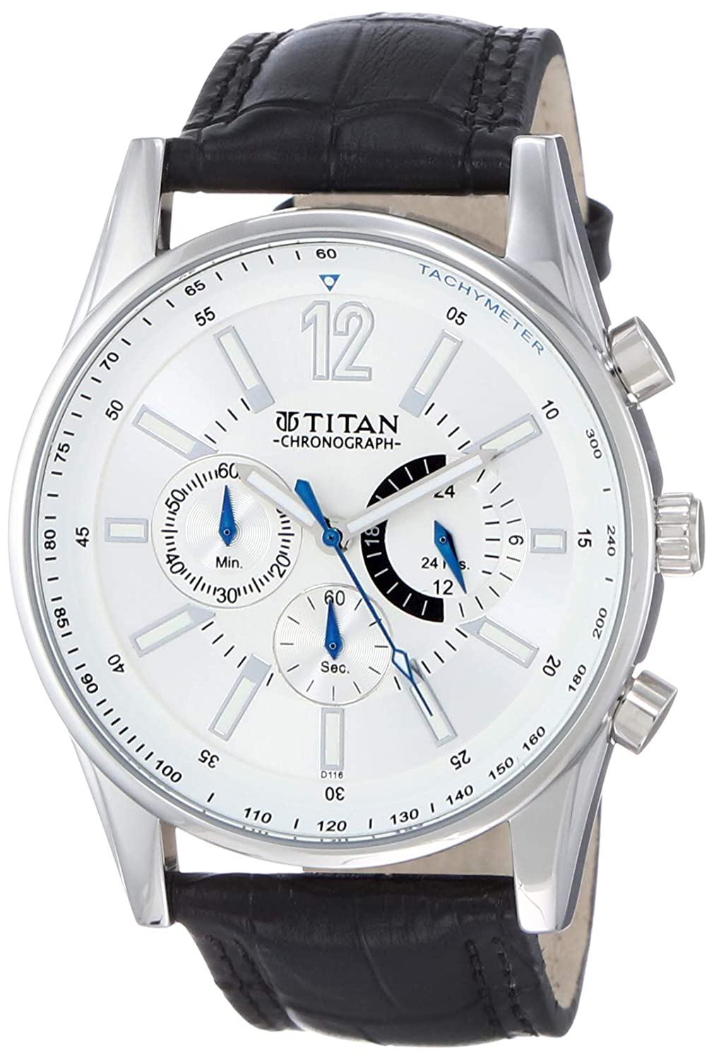 Titan Classique Chronograph Silver Dial Men's Watch