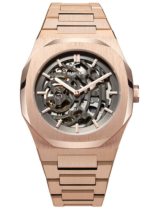 D1 Milano Skeleton Analog Black Dial Men's Watch