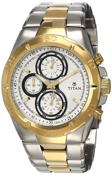 Titan Regalia Chronograph Analog Silver Dial Men's Watch