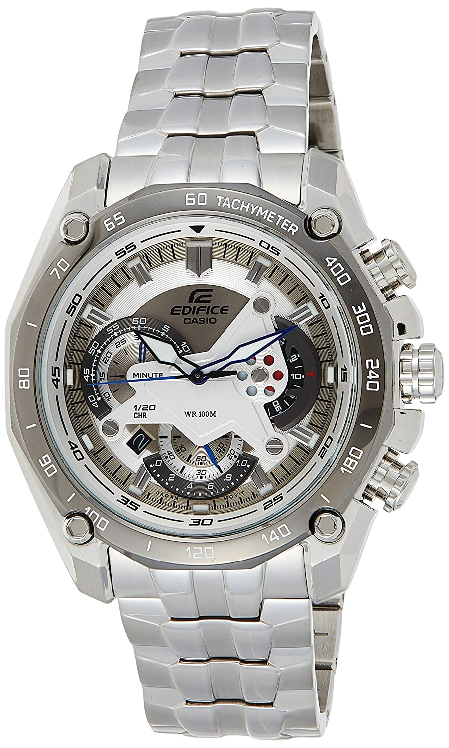 Casio Edifice Tachymeter Chronograph White Dial Men's Watch