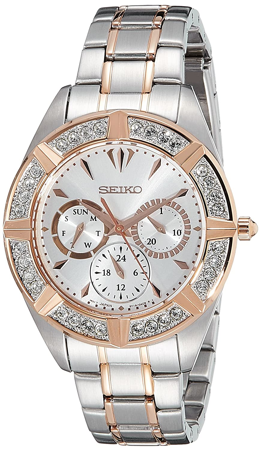 Seiko Multi-Function Silver Dial Two-Tone Men's Watch