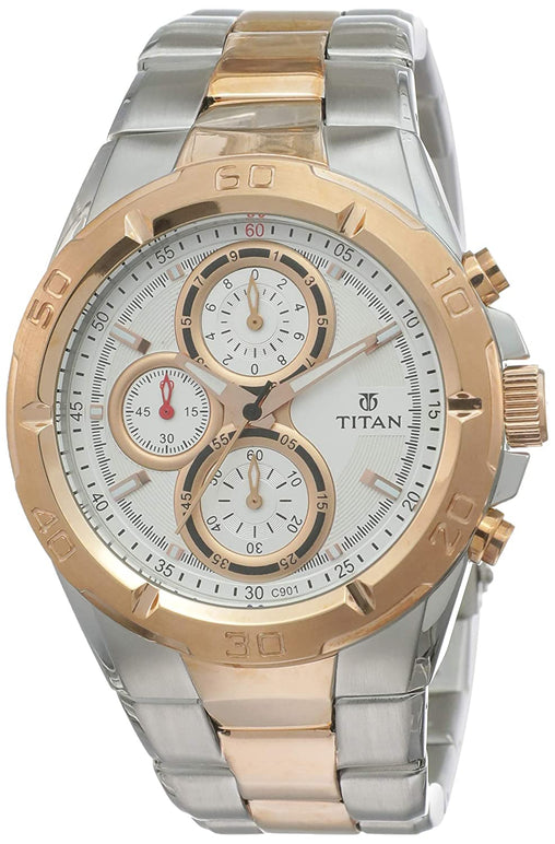 Titan Octane Chronograph Grey Dial Men's Watch