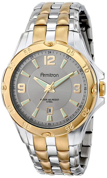 Armitron Men's 20/4963SVTT Ratchet Bezel Two-Tone Bracelet Watch