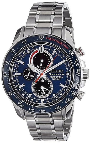 Seiko Sportura Chronograph Blue Dial Men's Watch