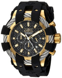 Invicta Men's 'Bolt' Quartz Stainless Steel and Silicone Casual Watch, Color:Black