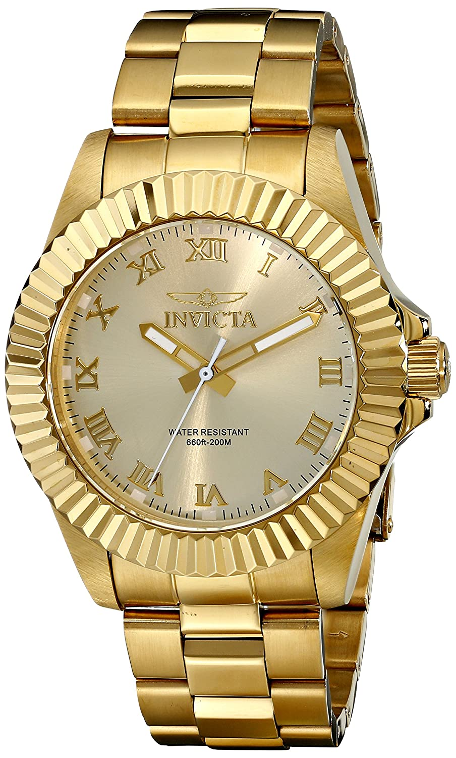 Invicta Pro-Diver Analog Gold Dial Men's Watch