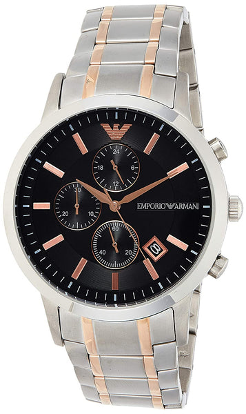 Emporio Armani Renato Analog Black Dial Men's Watch