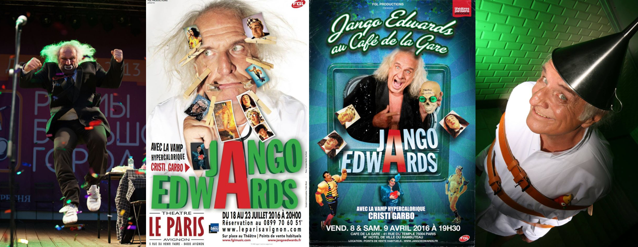"2016 spectacle ""Tous à l'Asile"" de Jango Edwards"