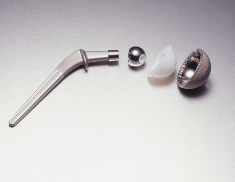 titanium used in orthopaedic hip joint replacement