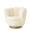 Swivel Chair Mirage faux shearling
