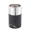 Candle Holder Sierra black marble nickel fin S/3