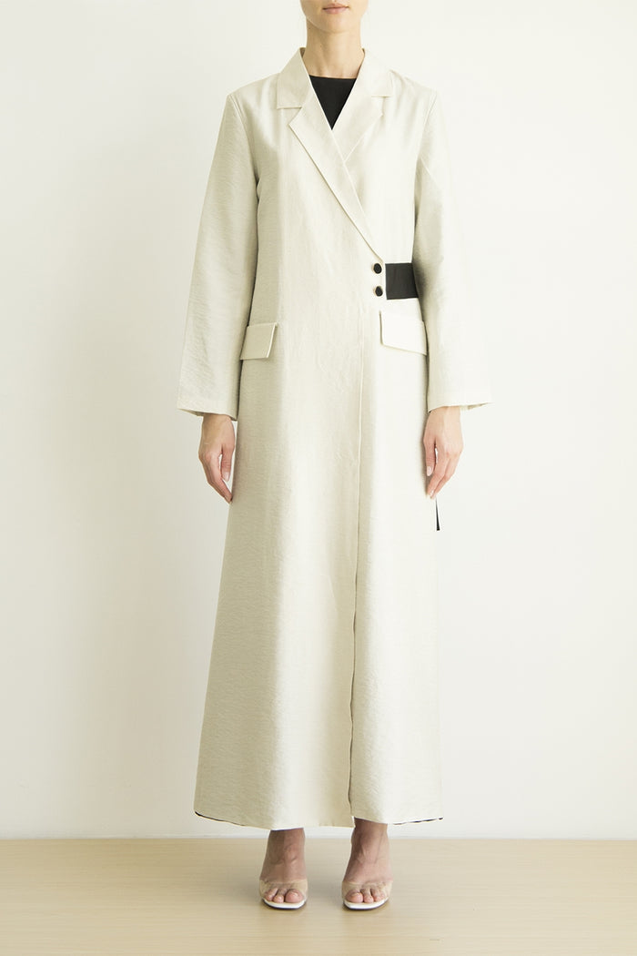 Linen Abaya with side belt