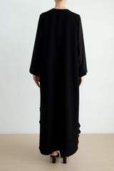 Panelled Abaya with laser-cut sphere inserts