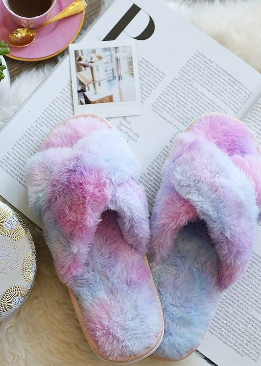 Brunch In Bed Slippers (Cotton Candy)