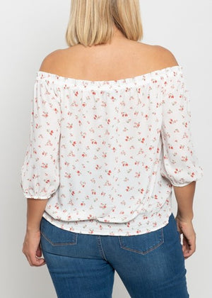 One More Chance Off the Shoulder Top
