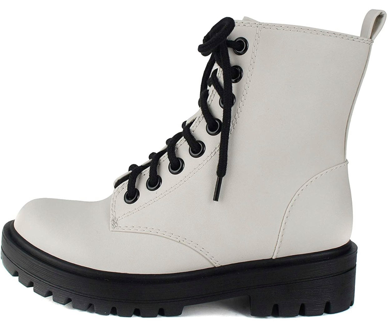Lug Sole Combat Ankle Boot