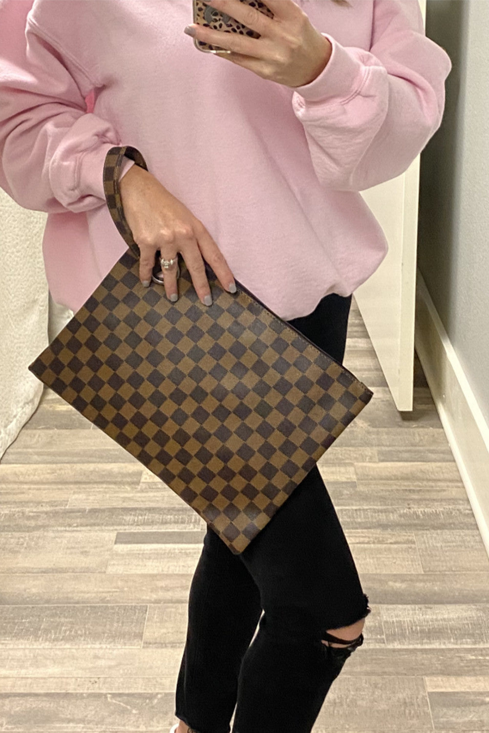 Blog About It Clutch - Brown