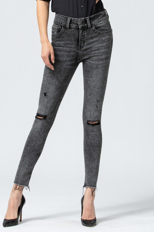 Street Smarts Skinny Jean - Vervet by Flying Monkey