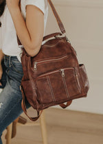 Bring You Along Convertible Backpack (Brown)