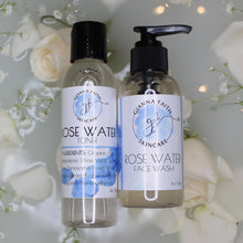 Load image into Gallery viewer, ROSE WATER FACE WASH AND TONER SET