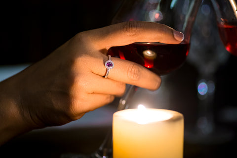 Alexandrite in candlelight