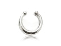 Piercing Falso Septum | Anillo Plateado