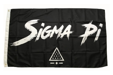 Sigma Pi Fighter Flag | Black and White