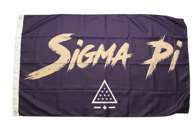 Sigma Pi Fighter Flag | Purple and Old Gold