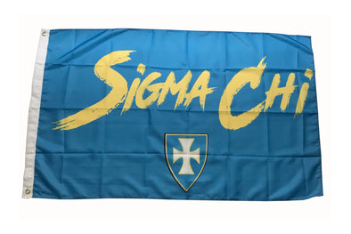 Sigma Chi Fighter Flag | Blue and Old Gold