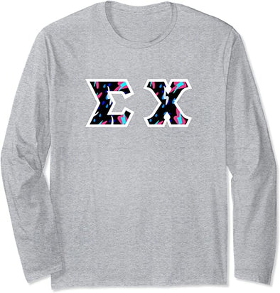 Sigma Chi Printed Letter Long Sleeve | Bayside