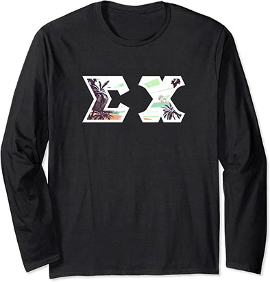 Sigma Chi Printed Letter Long Sleeve | Tropical