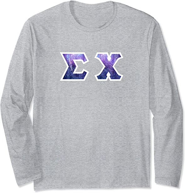 Sigma Chi Printed Letter Long Sleeve | Galaxy