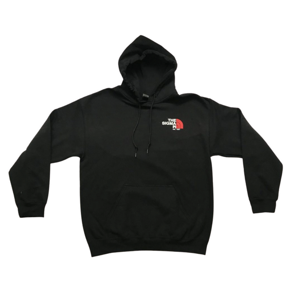 Sigma Pi Graphic Hoodie | Black | North Face