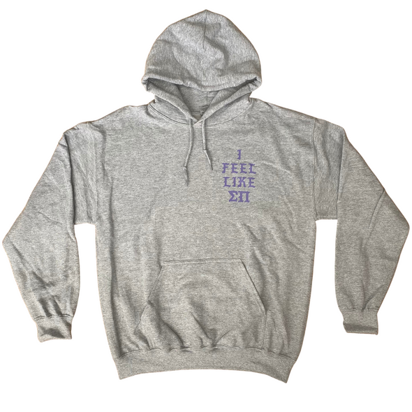 Sigma Pi Graphic Hoodie | Sport Grey | Life Of Sigma Pi