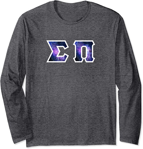 Sigma Pi Printed Letter Long Sleeve | Galaxy