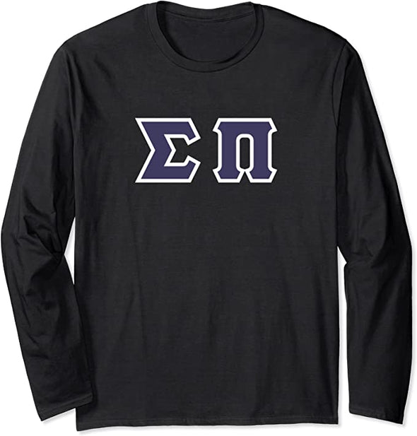 Sigma Pi Printed Letter Long Sleeve | Purple with White