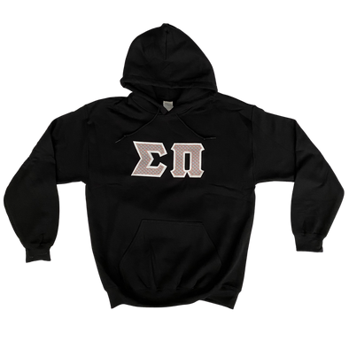 Sigma Pi Stitched Letter Hoodie | Vineyard Vines Whales with White Border
